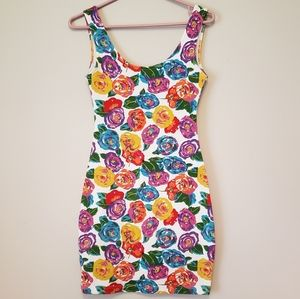 Floral Pop Bodycon Dress